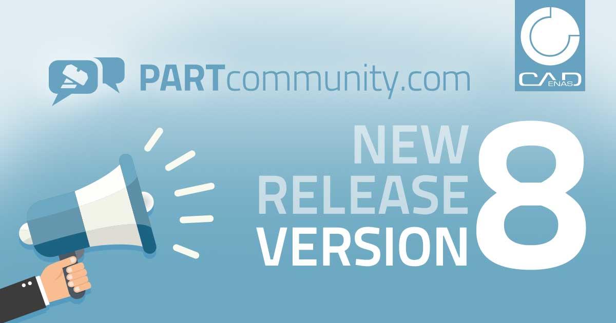 CADENAS开发的最新版本PARTcommunity 8