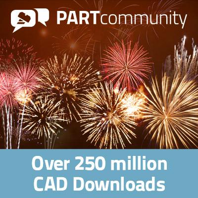 2017年在PARTcommunity上2.6亿次3D CAD模型的下载量