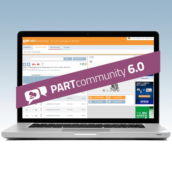 3D CAD零部件下载平台PARTcommunity新版本包含更多新功能